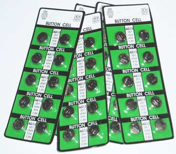 5 blisters met 10x LR44 batterij