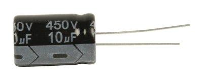 Elektrolytische Condensator 10 uF 450 VDC